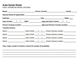 Sr22 Insurance Quotes Delectable Auto Insurance Quote Form Template Best Business Template Sr48
