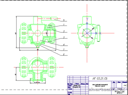 Дипломные проекты и курсовые работы скачать чертежи в autocad в  Чертежи Кран пробковый трехходовой