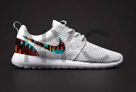nike running shoes. shoes white aztec tribal pattern nike roshe run one running a