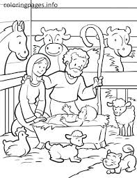 Nativity Coloring Page Nativity Scene Coloring Pages Printable