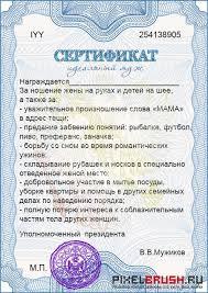 муж Портал о дизайне pixelbrush Шуточный сертификат для мужчины Идеальный муж