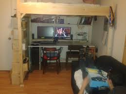 bed and desk combo furniture. ana white double loft desk combo with storage ladder diy projects bed and furniture