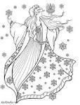 Раскраска зима красавица