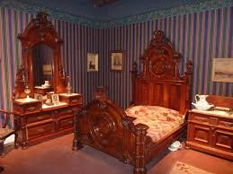 victorian bed furniture. ornate victorian bedroom furniture and striped wallpaper which i have a thing for bed