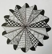 Zentangle Pattern Ideas Gorgeous Drawn Pattern Zen Pencil And In Color Drawn Pattern Zen