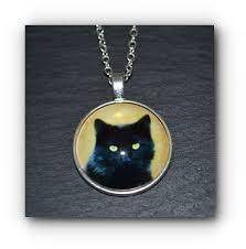 necklace black cat