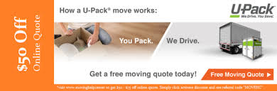 Upack Quote New UPack Moving How To Move With A Portable Storage Coupon Packrat