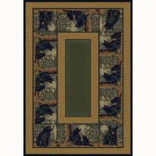 lodge area rugs united weavers bear family 5 ft 8 ft contemporary lodge area rug united weavers bear family 5 ft 8 ft contemporary lodge area rug