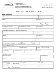 Personal Credit Application Form Fill Online Printable Fillable