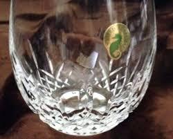 waterford stemless wine glasses deep red 4 nib retail ea marquis