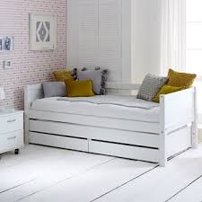 day beds for girls.  Beds Flexa Nordic Kids Day Bed With Trundle U0026 Drawers In White For Beds Girls B