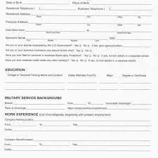 Resume Forms Blank Resume Forms Fred Resumes 18