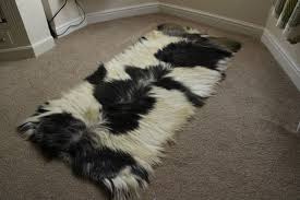 natural mixed goatskin rug mx2 137x61cm