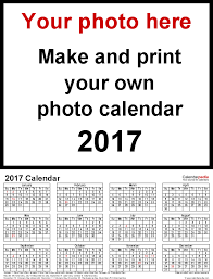 custom calendar templates photo calendar 2017 free printable word templates