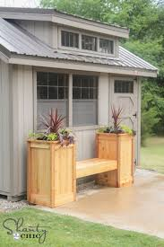 diy planter box bench 500x750