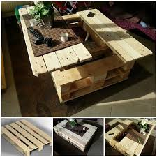 furniture out of wooden pallets. view in gallery pallet coffee table with storagewonderfuldiy furniture out of wooden pallets