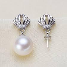 trendy pearl earrings mountings beautiful hot whole earrings findings earrings settings jewelry stud earrings