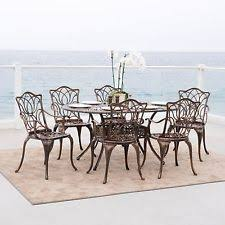 aluminum dining sets patio furniture. (7-piece) outdoor patio furniture antique copper cast aluminum dining set sets