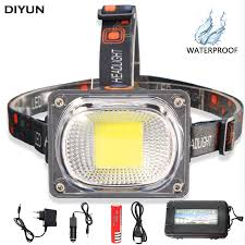Online Shop Ultra Bright 6200LM COB <b>LED</b> Headlamp USB ...
