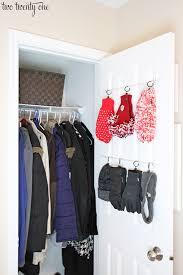 hall closet organization and storage ideas behind the door gloves