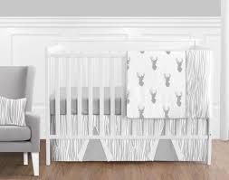 grey nursery bedding set zig zag 3 piece crib bedding set in gray