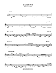pachelbel canon violin sheet music canon in d sheet music by johann pachelbel clarinet 105440