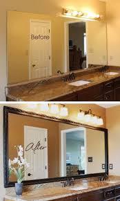 Best  Mirror Makeover Ideas On Pinterest - Trim around bathroom mirror