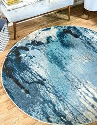 round blue outdoor rug navy