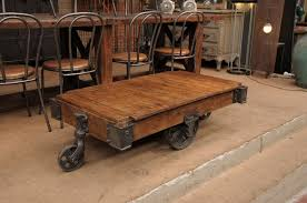 Mill Cart Coffee Table Industrial Cart Coffee Table With Storage