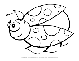 Coloring Book Pictures Of Ladybugsl