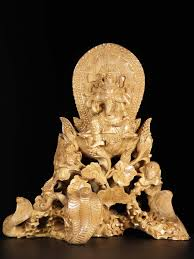 hand carved wood balinese ganesh statue 21