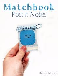 best diy ideas for teens to make this summer matchbook post it note holder