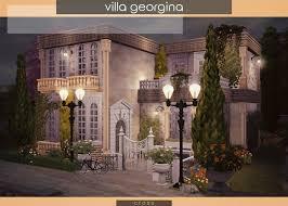 Villa Georgina by Praline at Cross Design » Sims 4 Updates