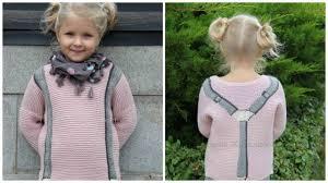 Симпатичный вязаный <b>пуловер</b> с подтяжками + описание ...