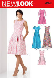 Dress Sewing Patterns Fascinating Amazon New Look Patterns UN448A Misses' Dress A 44848484848