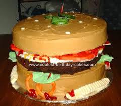 Cool Homemade Hamburger Cake For My Cousin