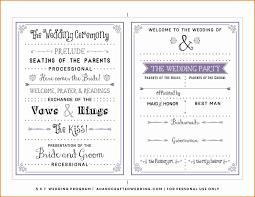 Booklet Program Template 026 Template Ideas Wedding Ceremony Program Free Outstanding