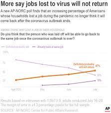 ap norc poll nearly half say job lost