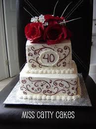 40th Wedding Anniversary Cake In 2019 Cakes 40th Wedding