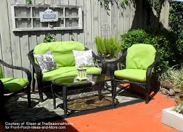 Patio furniture decorating ideas Deck Eileens Makeover Of Her Wicker Patio Furniture Front Porch Ideas And More Summer Decorating Ideas For Lovely Porch This Season