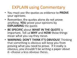 body paragraphs state support and explain ppt explain using commentary