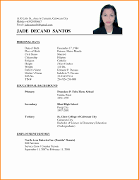 Sample Of Simple Resume Format Unique 11 Applicant Resume Sample