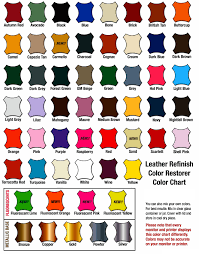 Brillo Leather Color Spray Dye Chart 17 All Inclusive Color Chart Image