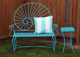 Bench Garden Furniture Paint Colours Renewing Bench Garden