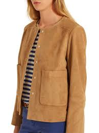 womens gerard darel victor leather jacket beige pbqgs66908 ufficiale