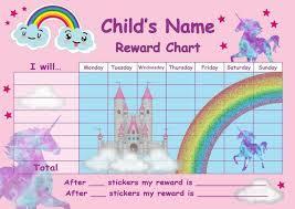 Lego Batman Reward Chart Girls Personalised Unicorn Behaviour Reward Chart Star Stickers Pen Magnetic
