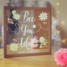 personalised bee mirror frame