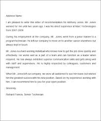 Recommendation Letter Of Employee Gse Bookbinder Co