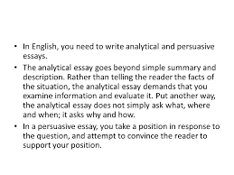 writing extended responses ppt video online in english you need to write analytical and persuasive essays