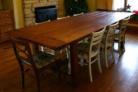 1home Full Solid Oak Dining Table Set With Chunky Legs Room Solid Oak Dining Room Table